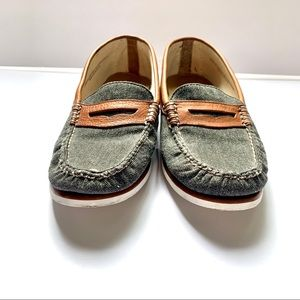 G.H. Bass & Co. Shoes - G.H. Bass Weejuns Leather & Canvas Shoes Size 8.5